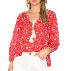 NWOT Free People Never a Dull Moment Boho Blouse M